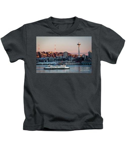 Space Needle.seattle,washington Kids T-Shirt