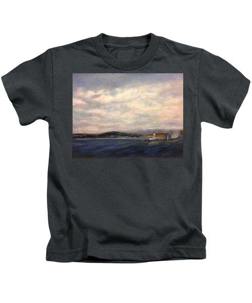The Port Of Everett From Howarth Park Kids T-Shirt