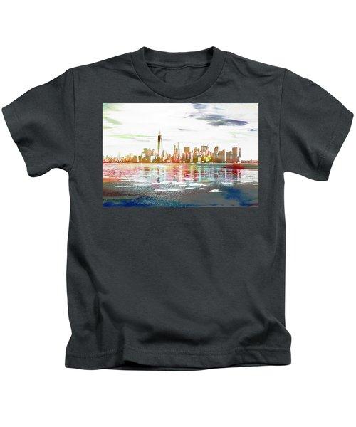 Skyline Of New York City, United States Kids T-Shirt