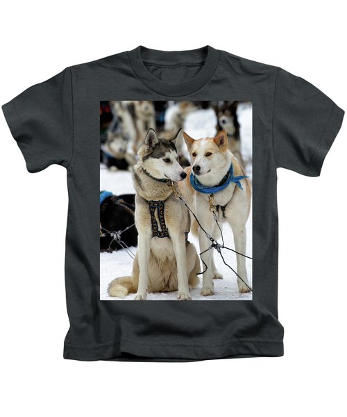 Sled Dogs Kids T-Shirt