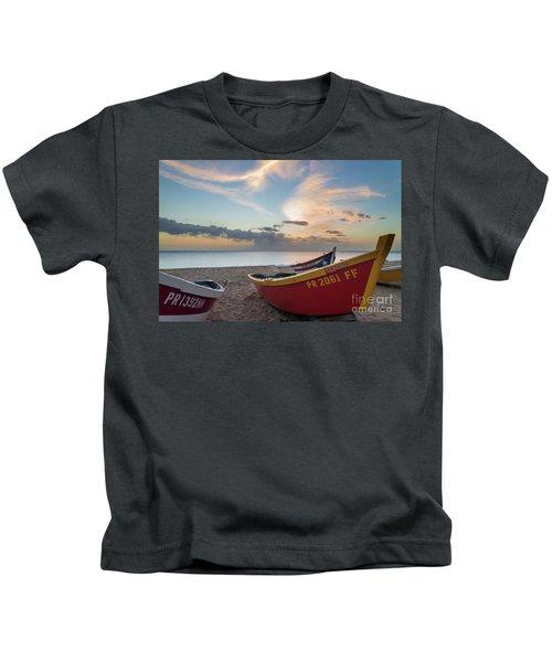 Sleeping Boats On The Beach Kids T-Shirt