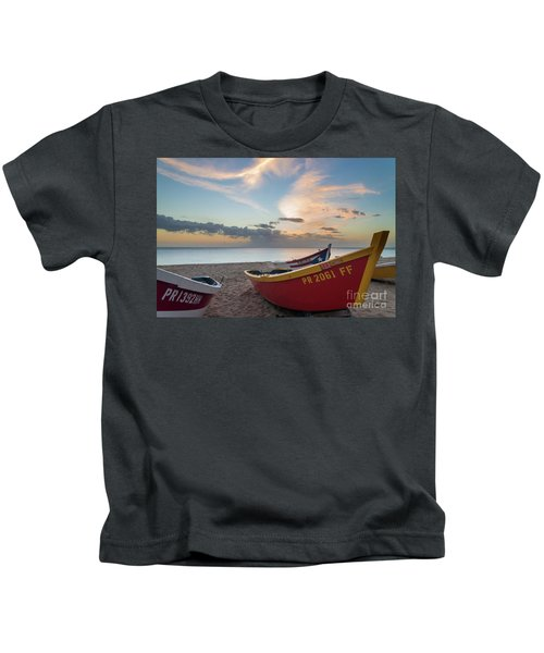 Sleeping Boats On The Beach Kids T-Shirt