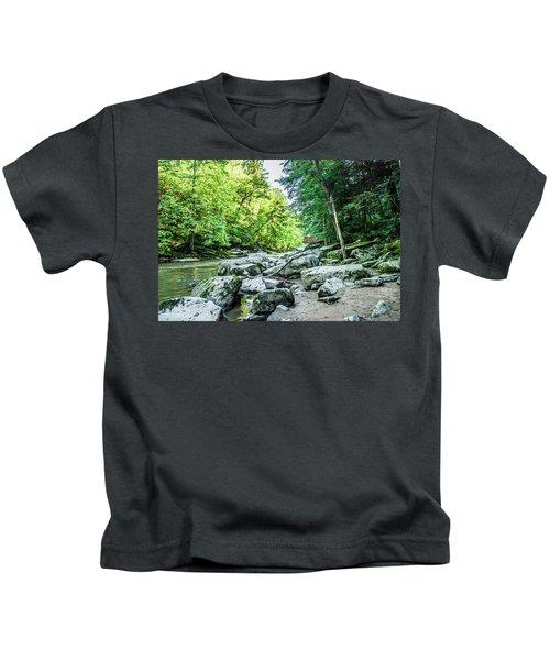 Slippery Rock Gorge - 1905 Kids T-Shirt