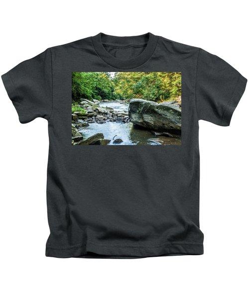 Slippery Rock Gorge - 1918 Kids T-Shirt