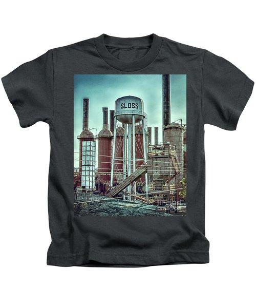 Sloss Furnaces Tower 3 Kids T-Shirt