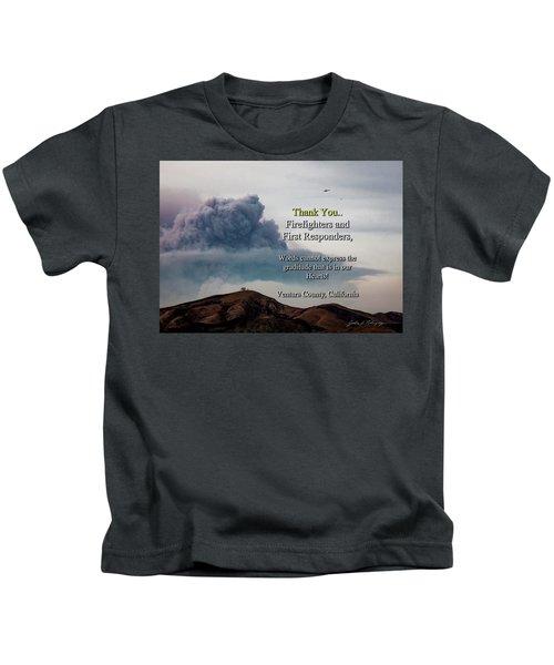 Smoke Cloud Over Two Trees Kids T-Shirt