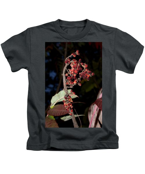 Smooth Sumac Flower Kids T-Shirt