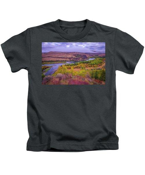 Snake River Fall Beauty  Kids T-Shirt