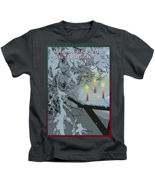 Snow And Candlelight Kids T-Shirt