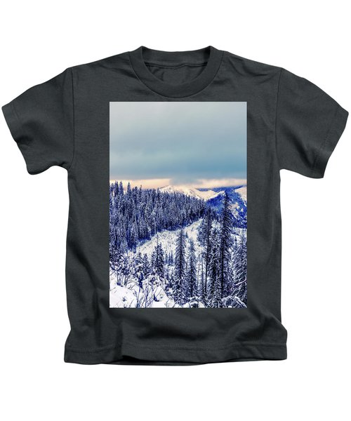 Snow Covered Mountains Kids T-Shirt