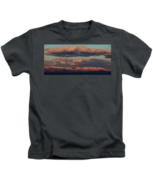 Snow Covered Red Rock Panorama Kids T-Shirt