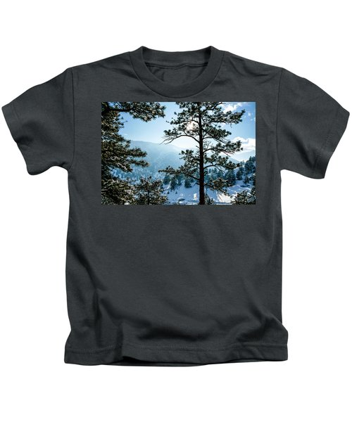 Snow-covered Trees Kids T-Shirt