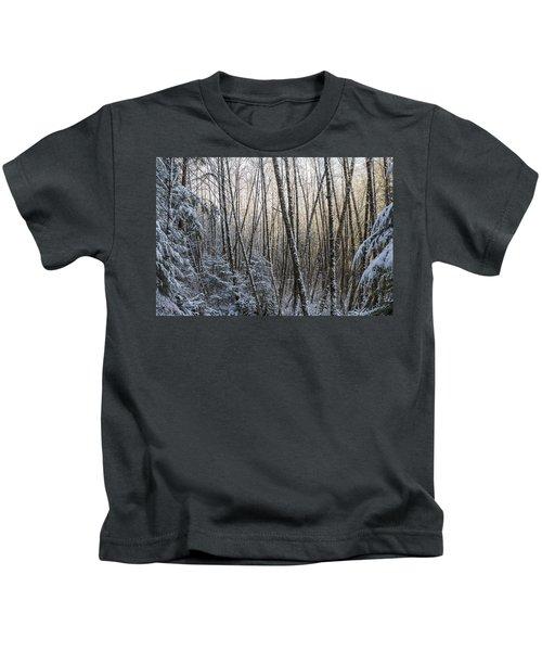 Snow On The Alders Kids T-Shirt