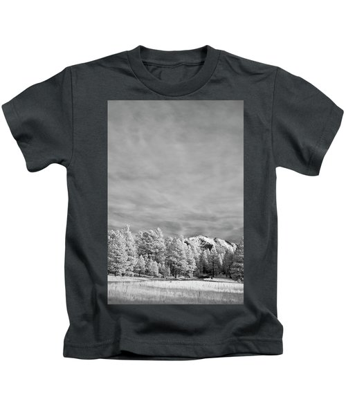 Snow On The Mountain In Flagstaff Kids T-Shirt