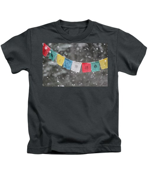 Snow Prayers Kids T-Shirt