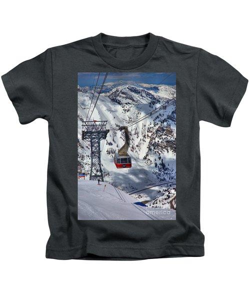 Snowbird Tram Portrait Kids T-Shirt