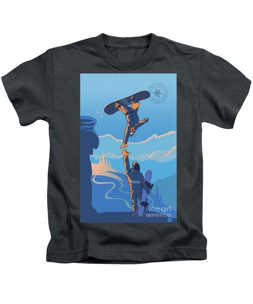Snowboard High Five Kids T-Shirt