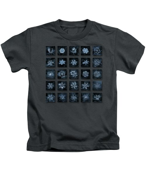 Snowflake Collage - Season 2013 Dark Crystals Kids T-Shirt