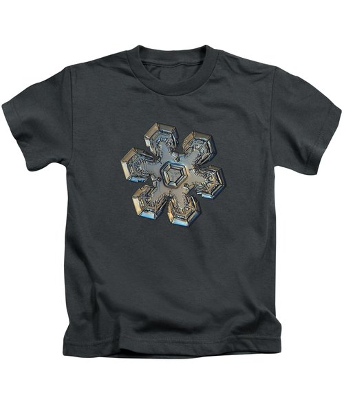 Snowflake Photo - Massive Gold Kids T-Shirt
