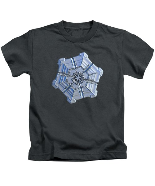 Snowflake Photo - Winter Fortress Kids T-Shirt