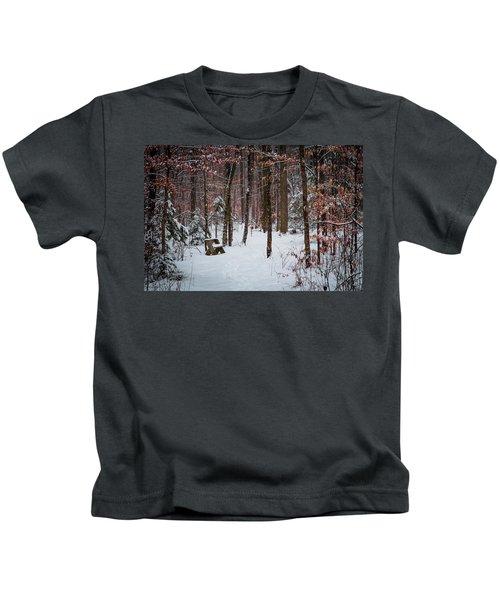 Snowy Bench Kids T-Shirt