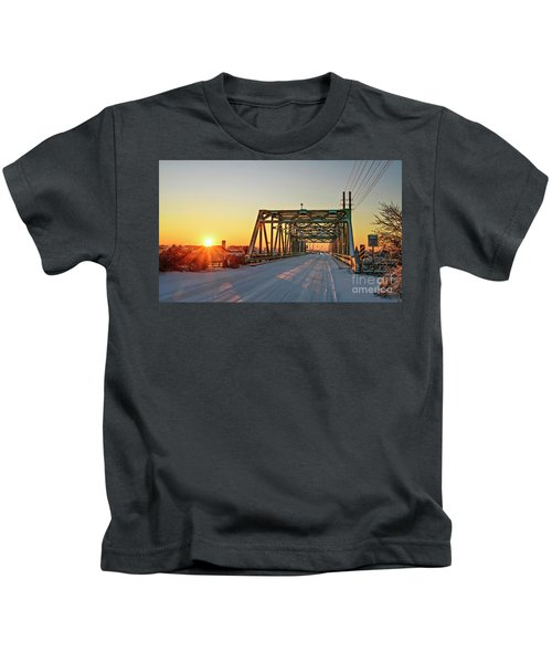 Snowy Bridge Kids T-Shirt