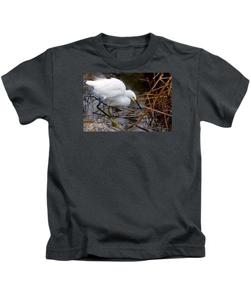 Snowy Egret Egretta Kids T-Shirt