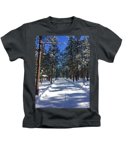Snowy Road Kids T-Shirt