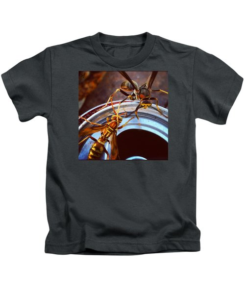 Soda Pop Bandits, Two Wasps On A Pop Can  Kids T-Shirt