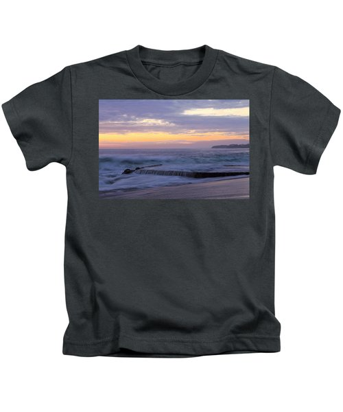 Soft Light On Victoria Beach Kids T-Shirt