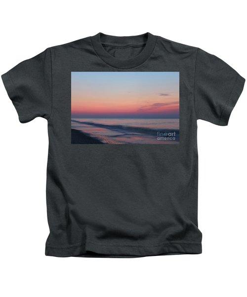 Soft Pink Sunrise Kids T-Shirt