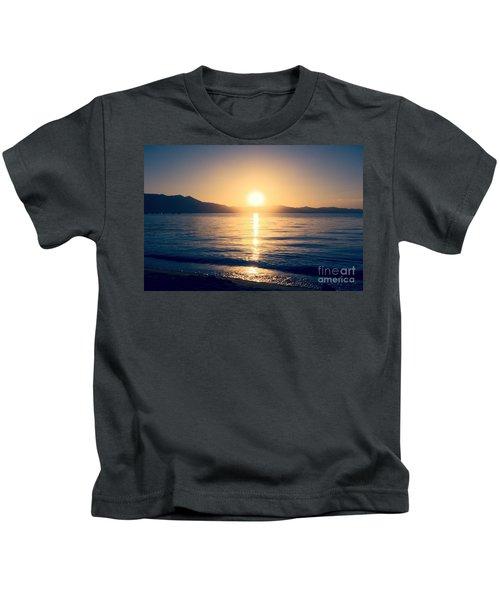 Soft Sunset Lake Kids T-Shirt
