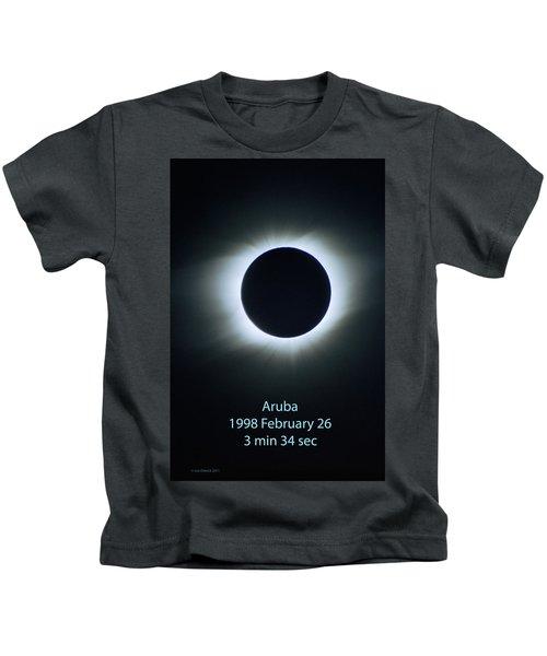 Solar Eclipse Aruba 1998 Kids T-Shirt