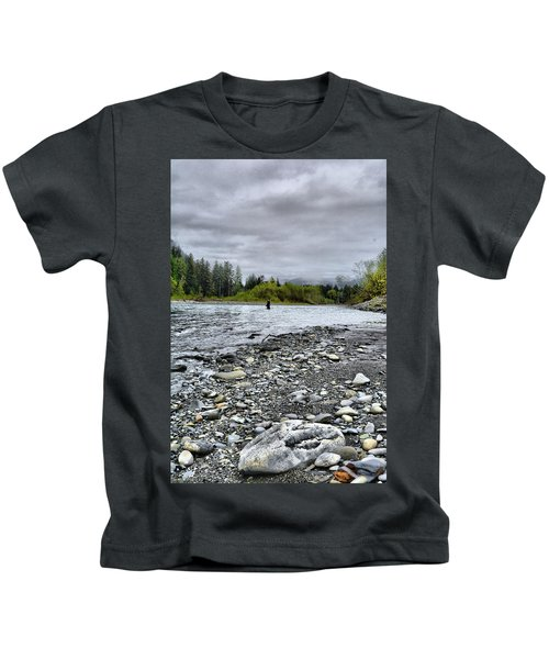 Solitude On The River Kids T-Shirt