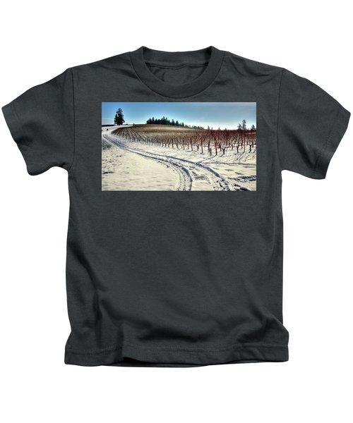 Soter Vineyard Winter Kids T-Shirt