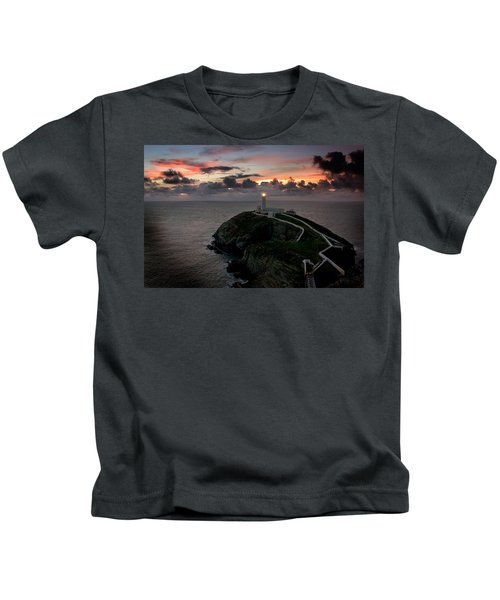 South Stack At Sunset Kids T-Shirt