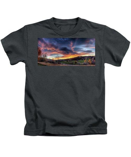 Spearfish Canyon Golf Club Sunrise Kids T-Shirt