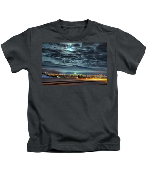 Spearfish Under The Moon Kids T-Shirt