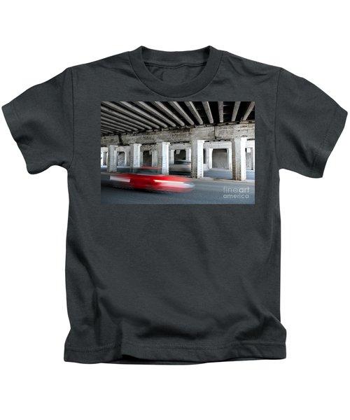 Speeding Car Kids T-Shirt