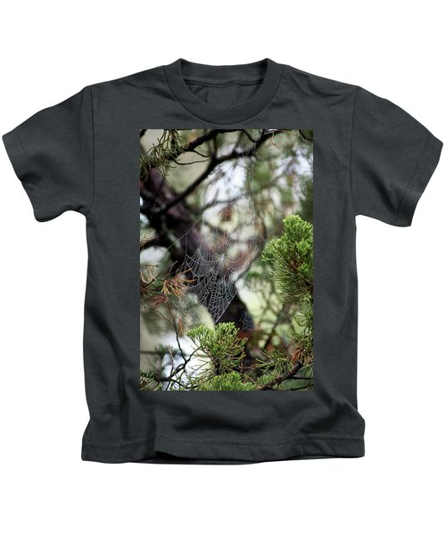 Spider Web In Tree Kids T-Shirt