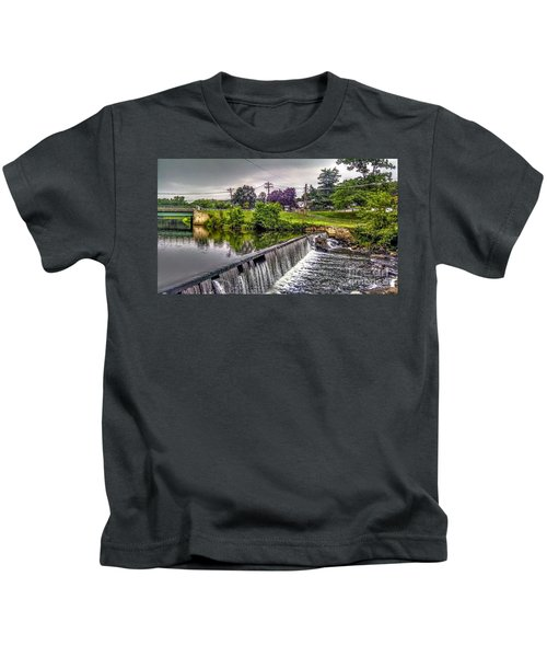 Spillway At Grace Lord Park, Boonton Nj Kids T-Shirt