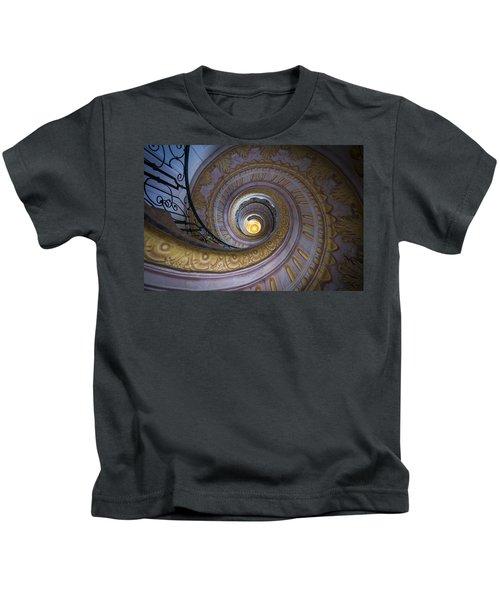 Spiral Staircase Melk Abbey IIi Kids T-Shirt