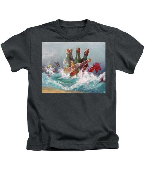 Splattered Wine Kids T-Shirt