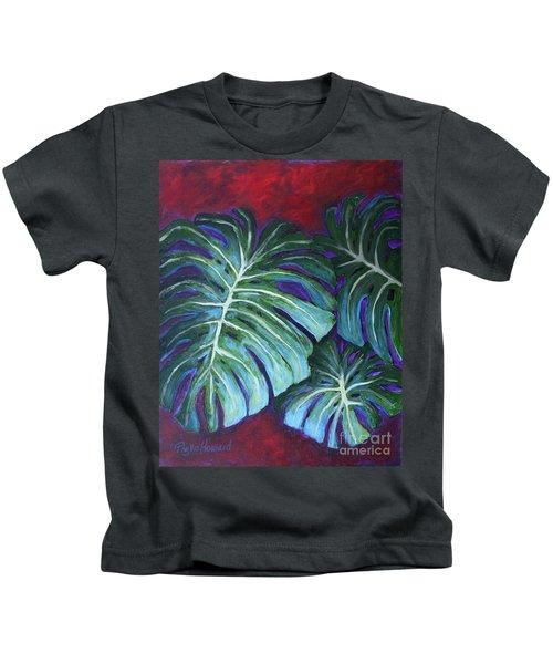 Split Leaf Philodendron Kids T-Shirt