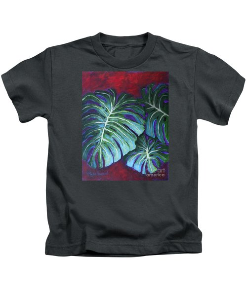 Split Leaf Philodendron Kids T-Shirt