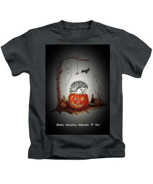 Spooky Hedgehog Halloween Kids T-Shirt