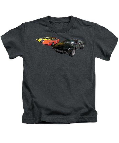 Sports Car In A Row Art Kids T-Shirt
