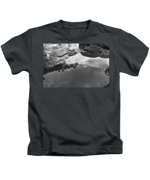 Spring Clouds Puddle Reflection Kids T-Shirt