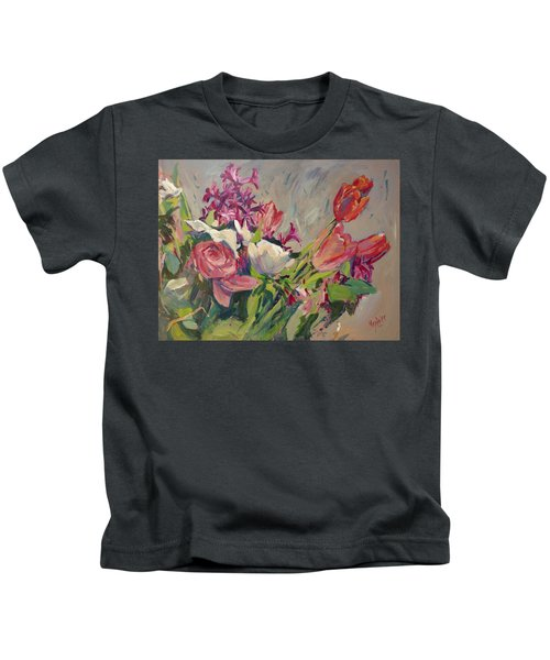 Spring Flowers Bouquet Kids T-Shirt