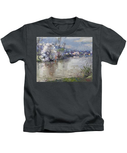 Spring In Hyde Park Kids T-Shirt by Ylli Haruni